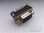 Разъем D-Sub DB9-M 9 pin папа угловой на плату 28 шт, фото №2