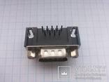 Разъем D-Sub DB9-M 9 pin папа угловой на плату 28 шт, фото №3