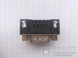 Разъем D-Sub DB9-M 9 pin папа угловой на плату 28 шт, фото №5