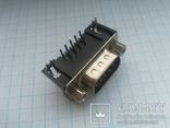 Разъем D-Sub DB9-M 9 pin папа угловой на плату 28 шт, фото №6