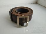 Военный кожаный ремень (портупея) с подкладкой р.4х105см., фото №13