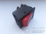 Переключатель клавишный 16A 3 pin Arcolectric С1553AL инд 1 шт, фото №2