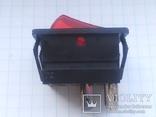 Переключатель клавишный 16A 3 pin Arcolectric С1553AL инд 1 шт, фото №6