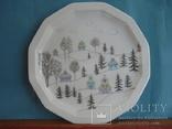 Коллекционная тарелка Rosenthal Weihnachten 1987. Художница Линнеа Рут Брюк., фото №2