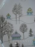 Коллекционная тарелка Rosenthal Weihnachten 1987. Художница Линнеа Рут Брюк., фото №5