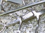 Винтажная серебряная брошь в виде листика, фото №4