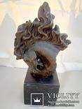 Голова лошади бронза мрамор Европа 4 кг, фото №2