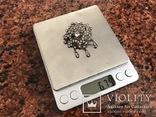 Серебряная брошка 875 проба, фото №8