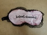 Маска для сна розовая фото 5