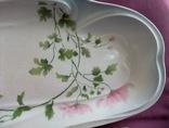 Блюдо банкетное Розовые цветы. Фарфор. Тов-во М.С.Кузнецова., фото №8