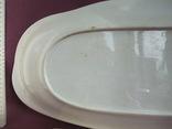 Блюдо банкетное Розовые цветы. Фарфор. Тов-во М.С.Кузнецова., фото №11