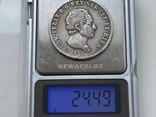 Сардиния 5 лир 1827 год Серебро, фото №4
