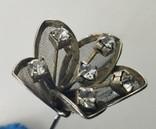 Мельхиоровая шпилька для волос с камнями, винтажная., фото №3