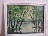 """Картина """"Весенний пруд"""" 2000 год Петровский В.В., фото №2"""