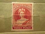 Новая Зеландия 1955 100-летие первой почтовой марки Новой Зеландии  гаш, фото №2