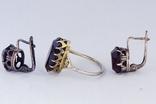Серебряное кольцо и серьги  875, фото №4