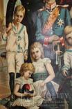 Император Вильгельм II с семьёй (награды) картина-литография, фото №3