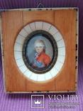 Миниатюрный портрет императора Павла в детстве с подписью автора Benner, фото №2