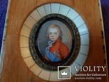 Миниатюрный портрет императора Павла в детстве с подписью автора Benner, фото №9