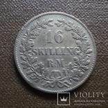 16 скиллингов 1858  Дания   серебро     (А.7.21)~, фото №2