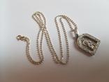 Иконка нательная Богородица + цепочка 50 см. Серебро 925 проба., фото №3