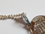 Иконка нательная Богородица + цепочка 50 см. Серебро 925 проба., фото №5