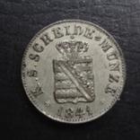 1/2  ньюгрошен 5 пфеннигов  1841  Саксония  серебро  ($4.1.31)~, фото №4