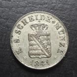 1/2  ньюгрошен 5 пфеннигов  1841  Саксония  серебро  ($4.1.31)~, фото №5