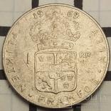 Швеція 1 крона, 1969