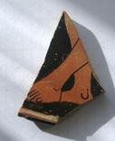 Фрагмент крышки краснофигурной леканы. Ольвия., фото №3