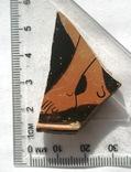 Фрагмент крышки краснофигурной леканы. Ольвия., фото №5