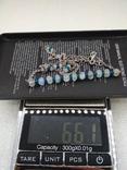 Колье цепочка серебро 925 натуральные камни, фото №3