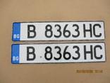 Номера на авто пара алюминий (350гр.), фото №2