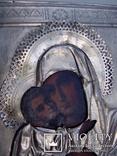 Богоматерь Владимирская(латунь,серебрение), фото №6