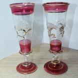 Два бокала с позолотой , ручная работа, фото №2