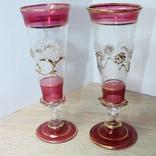 Два бокала с позолотой , ручная работа, фото №5