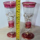 Два бокала с позолотой , ручная работа, фото №7
