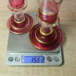 Два бокала с позолотой , ручная работа, фото №11