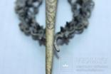 Винтажная Заколка для волос , филигрань с камнями, фото №7