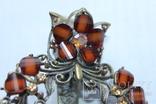 Винтажная Заколка для волос , филигрань с камнями, фото №8