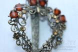 Винтажная Заколка для волос , филигрань с камнями, фото №9
