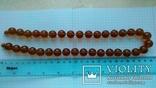 Бурштинове намисто  59.48 г   52 см, фото №7