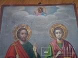 Ікона св.Петро і Пантелеймон, 77.5 на51.5см., фото №3