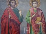 Ікона св.Петро і Пантелеймон, 77.5 на51.5см., фото №7