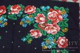 Платок  №3 головной (85х85) шерстяной ,цветастый. .не пользованный. с биркой., фото №4