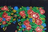 Платок  №4 головной (80х85) шерстяной ,цветастый. .не пользованный. без бирки, фото №4