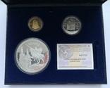 Набор 3 монеты 2007 года. Испания. (золото, серебро), фото №2