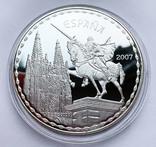 Набор 3 монеты 2007 года. Испания. (золото, серебро), фото №5