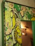 Зеркало дерево авторская роспись, фото №10