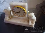 """Настольные часы """"Молния"""" 50-60гг.мрамор,рабочии, фото №6"""